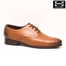 Caliber Shoes Tan Brown Lace Up Formal Shoes For Men - ( 514 C )