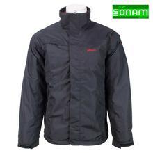 Sonam Gears Black Fur Inside Windcheater Jacket For Men(455)