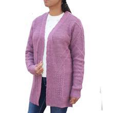 Light Purple Woolen Outer For Women