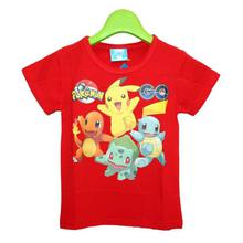 Red Pokemon Printed T-Shirt For Boys