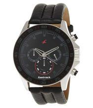 Fastrack 3072SL06 Chronograph Black Dial Watch For Men - Black