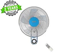 "Baltra BF139 CUTE+ 3 Speed 16"" Wall Fan With Remote - (White/Blue)"