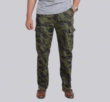 Green Camouflage Casual Pant For Men