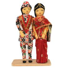 Multicolored Married Couple Doll Showpiece