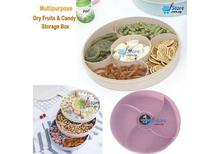 Multipurpose  Dry Fruits & Candy Storage Box with Plastic Lid