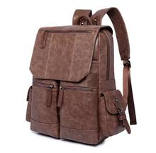 Leather Solid Fashion laptop backpack