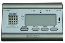 Seiko Grey Stylish High Accuracy Chromatic Tuner - (SAT-500)