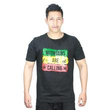 """Mountains Are Calling"" Printed T-Shirt For Men"
