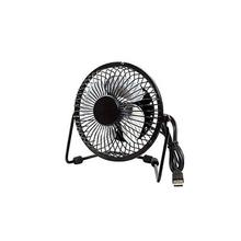 "6"" Mini USB Metallic Fan-Black"