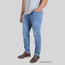 Denim Solid Jeans for Men (Blue C2B)