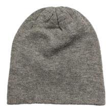 Grey Solid 100% Cashmere Cap
