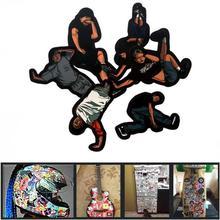 Multicolored 6 Pieces American Jocks Decor Stickers