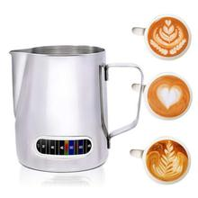 Milk Frothing Jug With Built-In Thermometer, Stainless Steel Creamer Frothing Pitcher 20oz/600ml Espresso Coffee Latte Pot