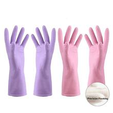 Rubber Latex Gloves With Cotton Lining Warmer