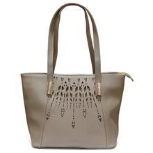 Cream Printed Handbag For Women
