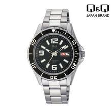 Q&Q A172-205Y Silver Strap Analog Watch For Men