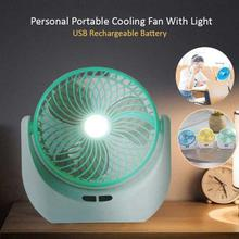 Personal Portable Cooling Fan With Light