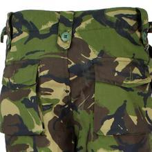 Green Straight F.V Camouflage Print Pants For Men