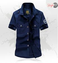 Stylish Men Stretch Cotton Casual Shirt