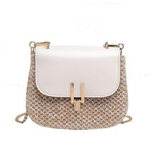 New Elegant Women Straw Messenger Bag Versatile Messenger