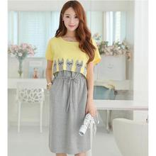 BAHEMAMI 2018 Summer Maternity Clothing Wear Breast Feeding Cotton Maternity Dresses Clothes for Pregnant Women Pregnant Dress