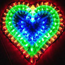 LED Fairy String Lights Love Heart Holiday Lighting Bedroom Home Decoration