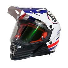 LS2 Pioneer Quaterback Full Helmet [White/Blue/Red]