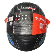 LS2  Rookie Matte Full Helmet - Black/Neon/Blue