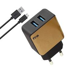 PTron Electra Fast Charger 2.4A Dual USB Port Battery