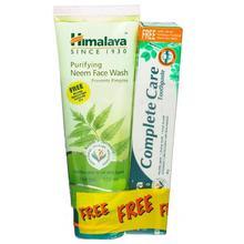 Himalaya Neem Facewash, 100ml (Free Complete Care Toothbrush 40gm)