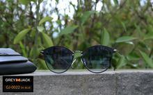 GREY JACK Polarized Shaded Black Wayfarer Sunglasses (Unisex)