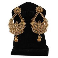 Golden Ramleela Earrings For Women