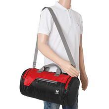 Fur Jaden 22L Black Travel Duffle Stylish Unisex Gym Bag