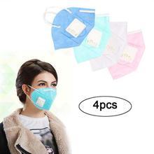 FashionieStore Face Mask Anti-fog Anti Respirator Anti Dust Haze 4pc Anti Pollution Mask Unisex Outdoor Protection N95 Non-Woven Fabric Dust Mask