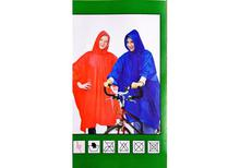 "Waterproof  Leightweight Rain Poncho / Raincoat  52"" x 80"" - Single Size"