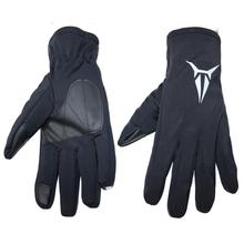 1 Pair of Gloves Windproof Anti-Slip Warm PU Gloves For Outdoor/ Sport/ Cycling /Winter