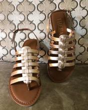 Theea Rose Gold Gladiators Sandals For Women