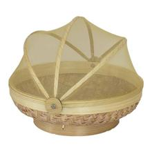 Light Brown Fruit Basket With Net Cover