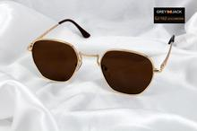 Grey jack metal frame sunglasses