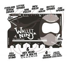 Tough Wallet Ninja 18 in 1 Multi Purpose Tool Kit - Metallic