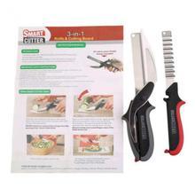 3-in-1 Clever Cutter Knife & Cutting Curved Board Scissors Tools