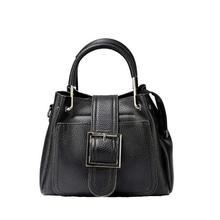 Black Buckle Handbag For Women