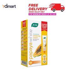 Joy Papaya White Advanced Whitening Cream Super Value Pack With Face Wash - 50gm + 20gm