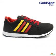 Goldstar Black/Red Casual Lace-Up Unisex Shoes - GS G104