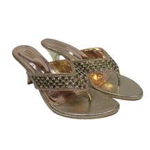 Rhinestone V Strap Heel Sandal For Women