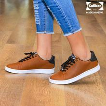 Caliber Shoes Tan Brown Casual Lace Up  Shoes For Women - ( 663 O  )
