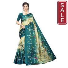 SALE-Anni Designer Women's Khadi Silk Printed Saree With