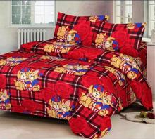 Printed Cotton Multicolor Double BEDSHEET with 2 (Two) Pillow Cover