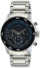3072SM03 Black Dial Chronograph Watch For Men - Silver