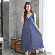 Summer Women Maternity Dresses for Pregnant Women Loose Clothing